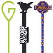 The letter G, a black crow and Turnbulls Tavern stir sticks