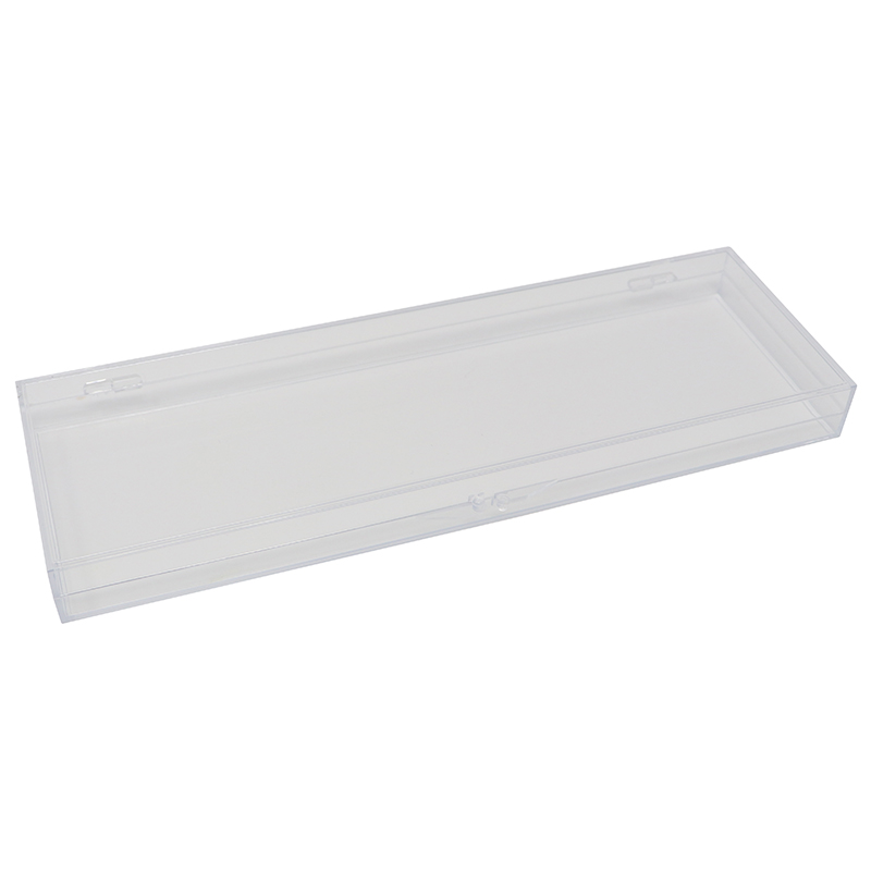 Long Single Section rectangle clear plastic box/container