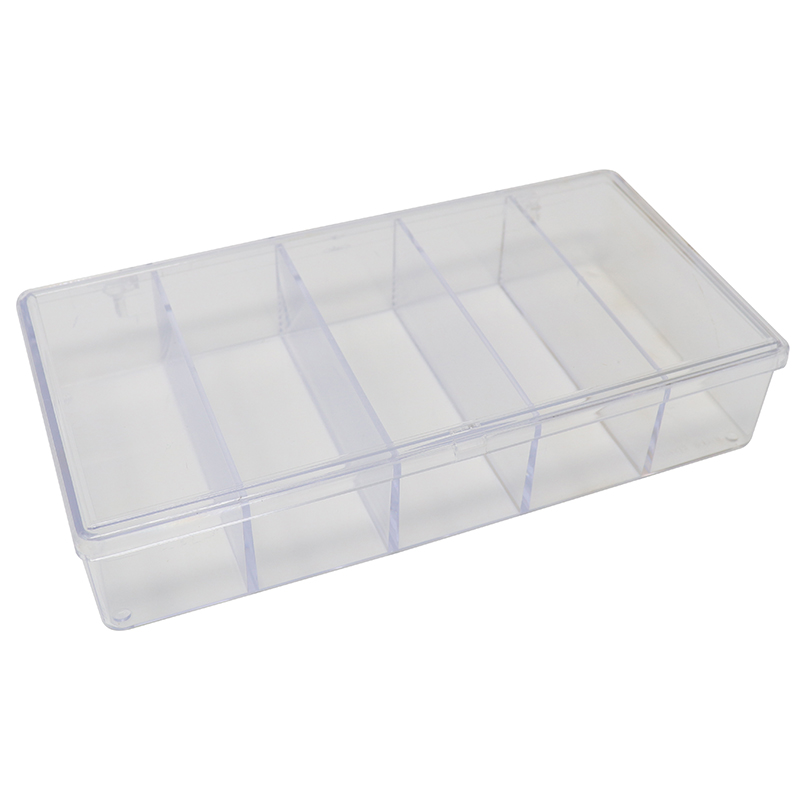 Large 5-Section plastic clear box/container