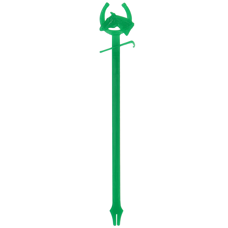 Green horse head shaped stir stick