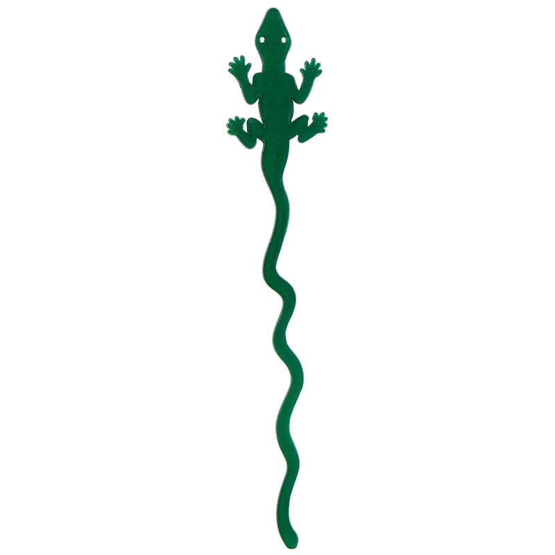 Green Iguana shaped stir stick
