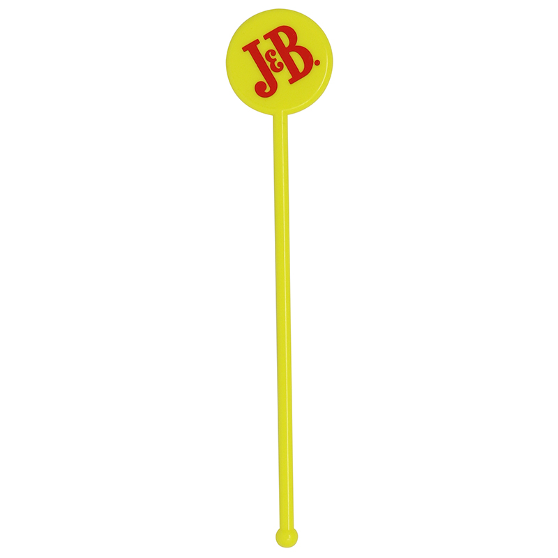 Yellow circle head stir stick with a ball end