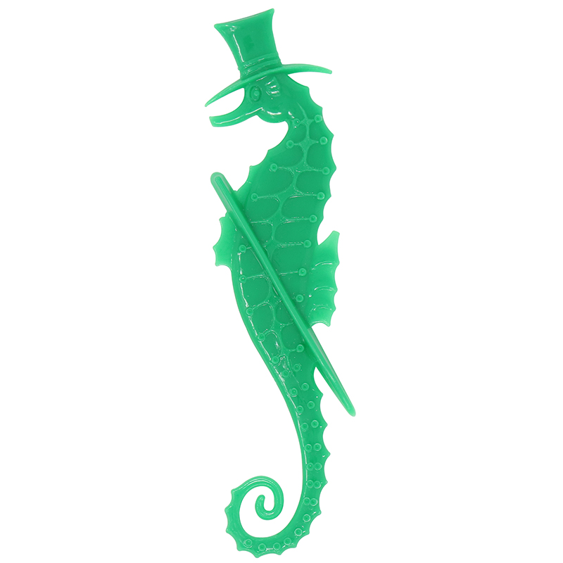 Green Sea Horse shaped stir stick