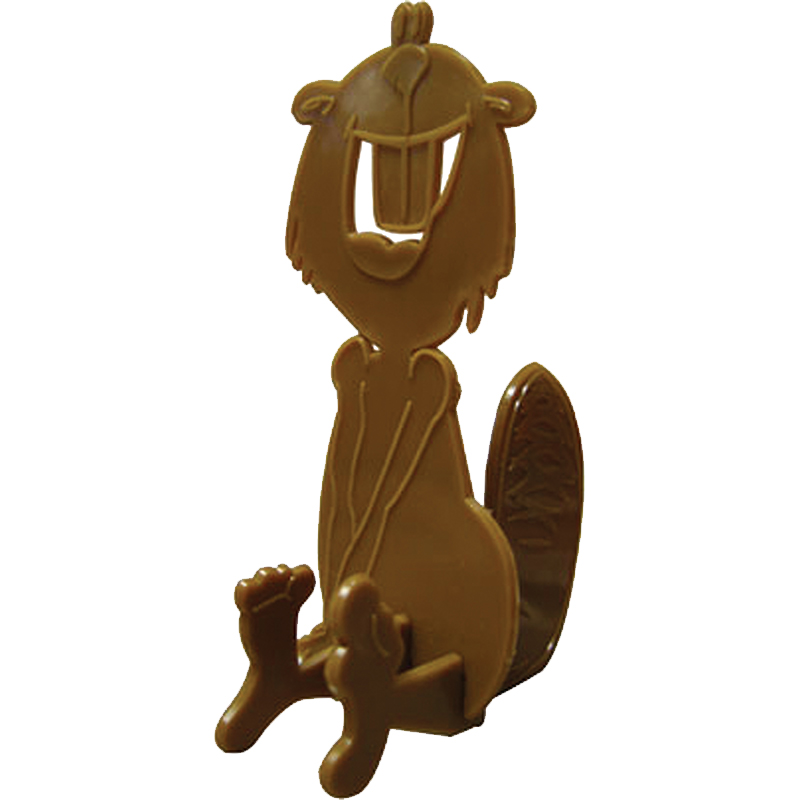 Brown 3D puzzle shaped liked beaver