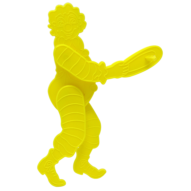 Yellow 3D puzzle shaped liked clown