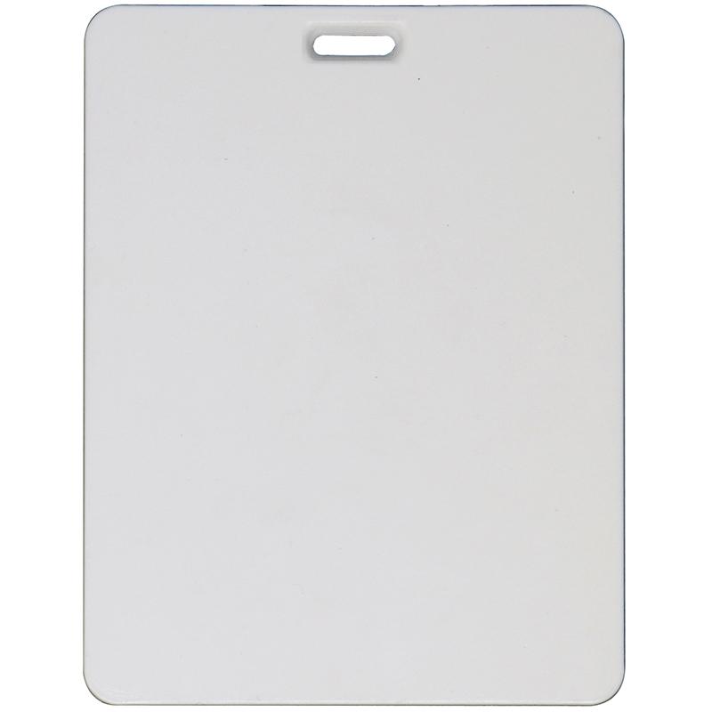 Rectangle plastic white bag tag