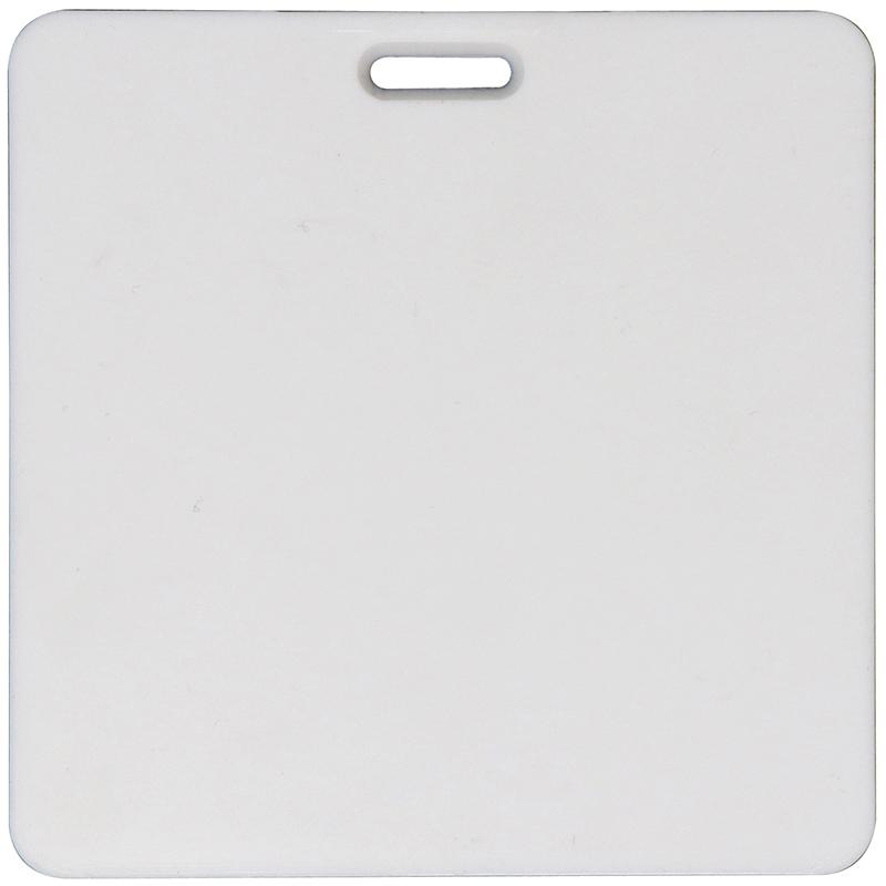 Square plastic white bag tag