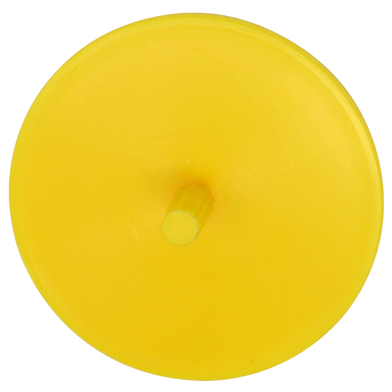 Plastic yellow spin top