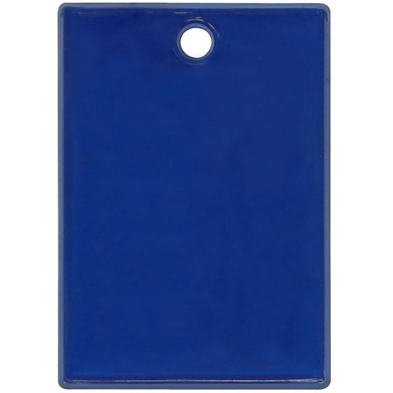 Plastic blue rectangle token