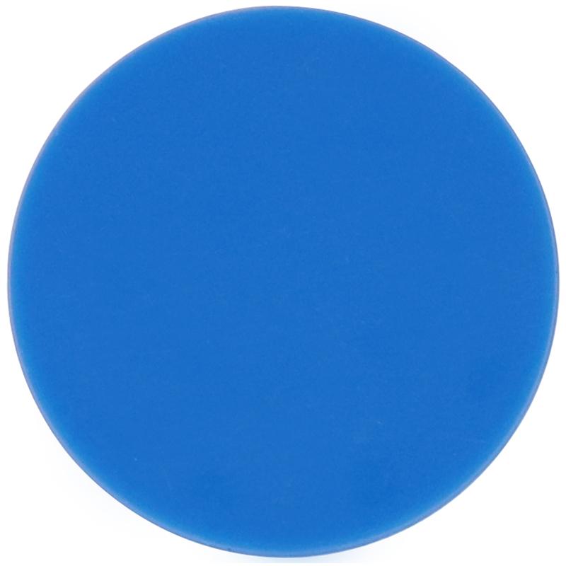Plastic blue circle token