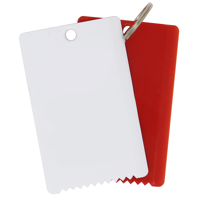 1 White and 1 red plastic ice scraper