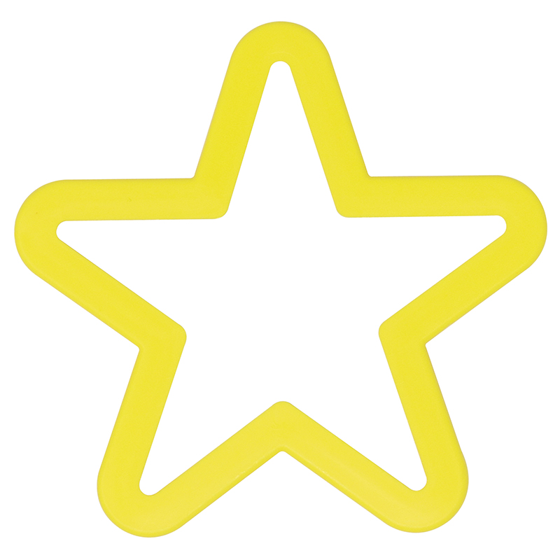 Yellow star shaped cookie cutter
