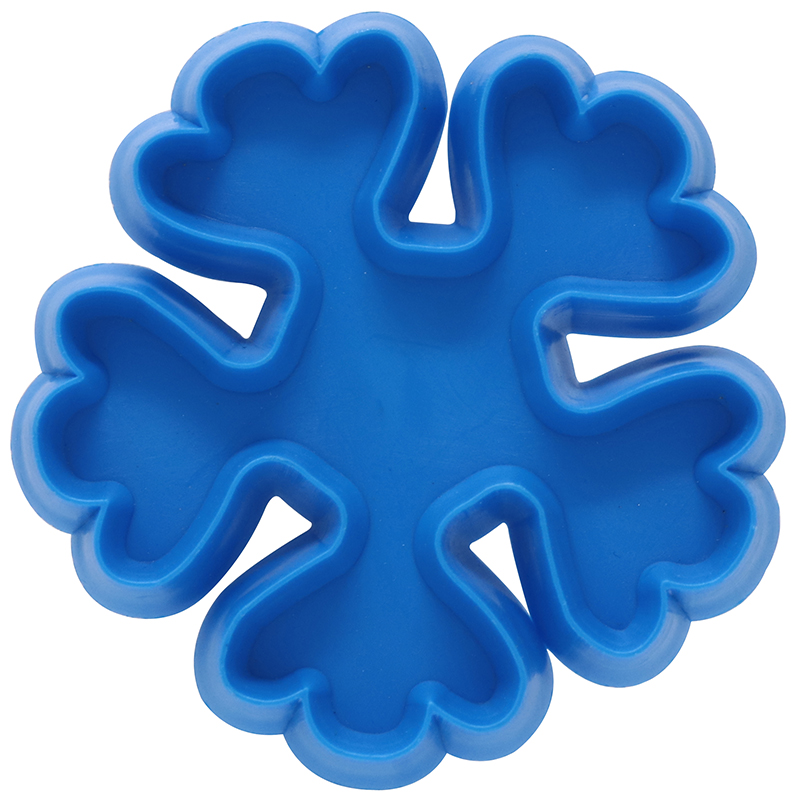 Blue snowflake shaped cookie cutter