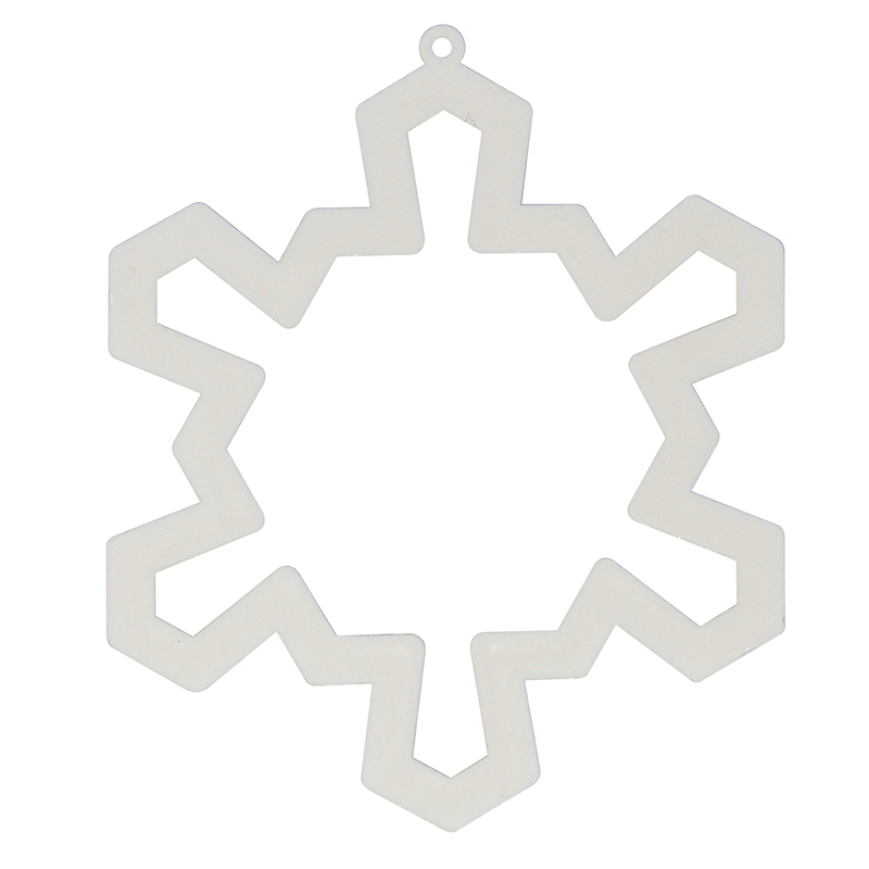 White snowflake shaped cookie cutter