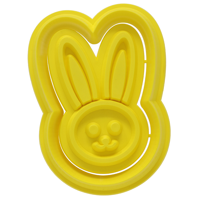 Yellow bunny shaped cookie cutter