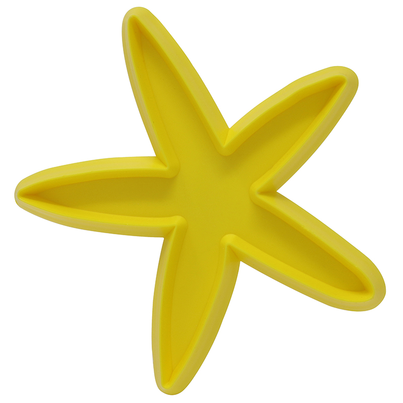 Yellow starfish shaped cookie cutter