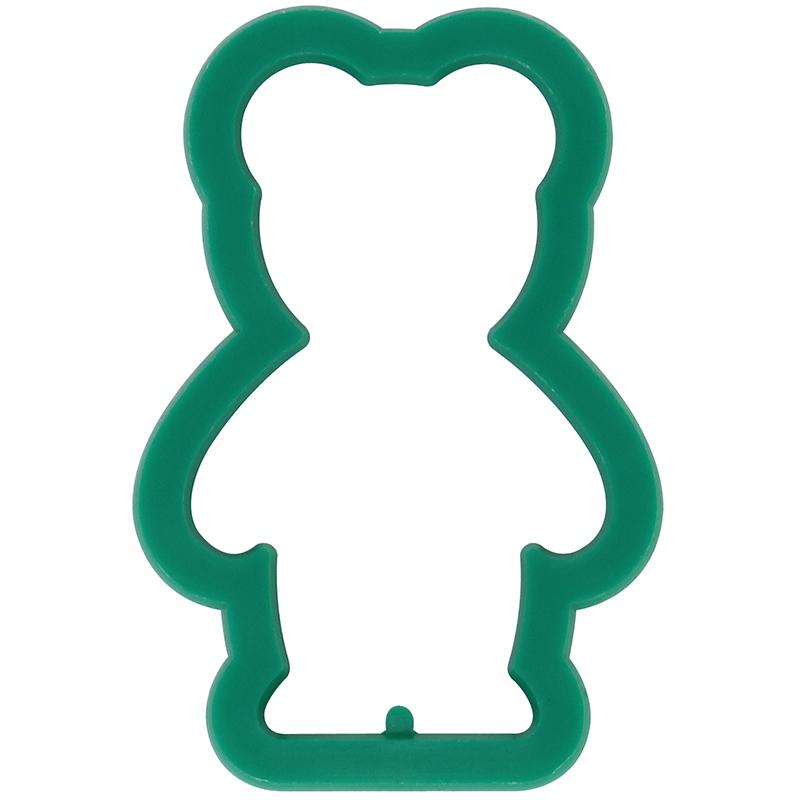 Green bear shaped cookie cutter