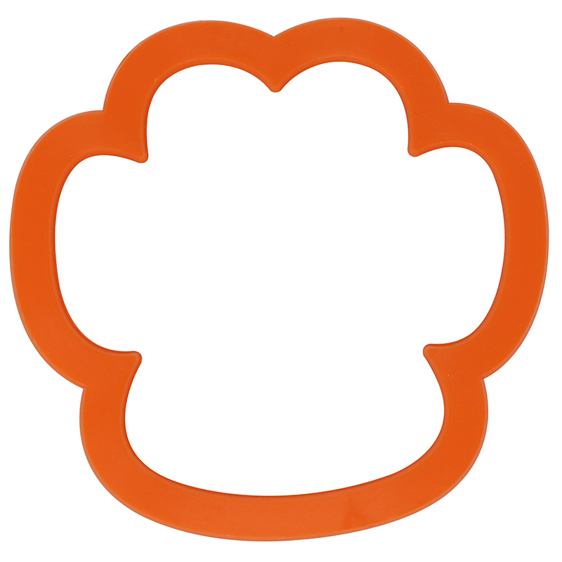 Orange paw shaped cookie cutter
