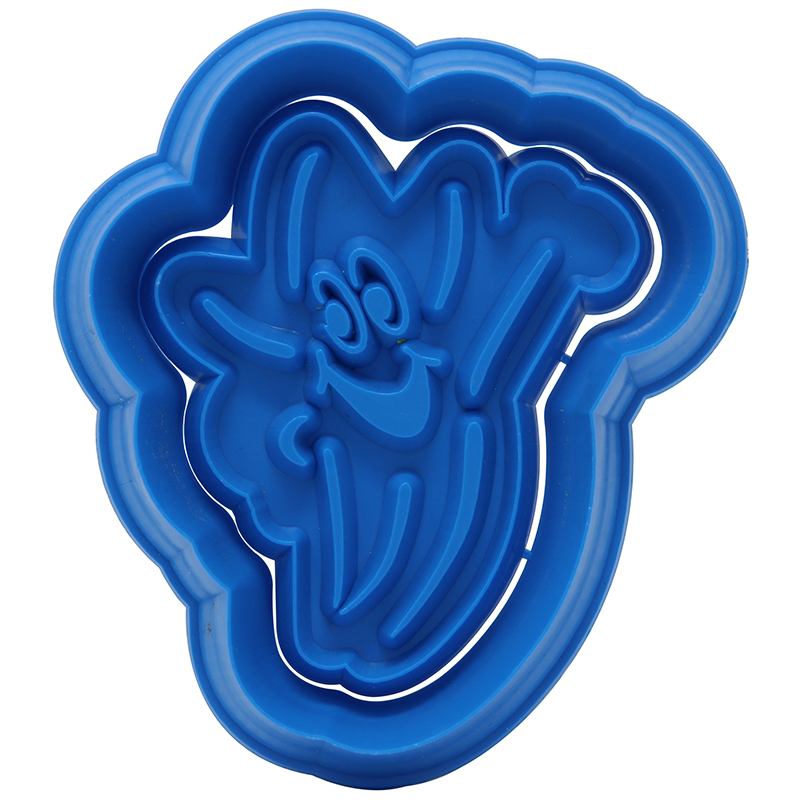 Blue star shaped cookie cutter