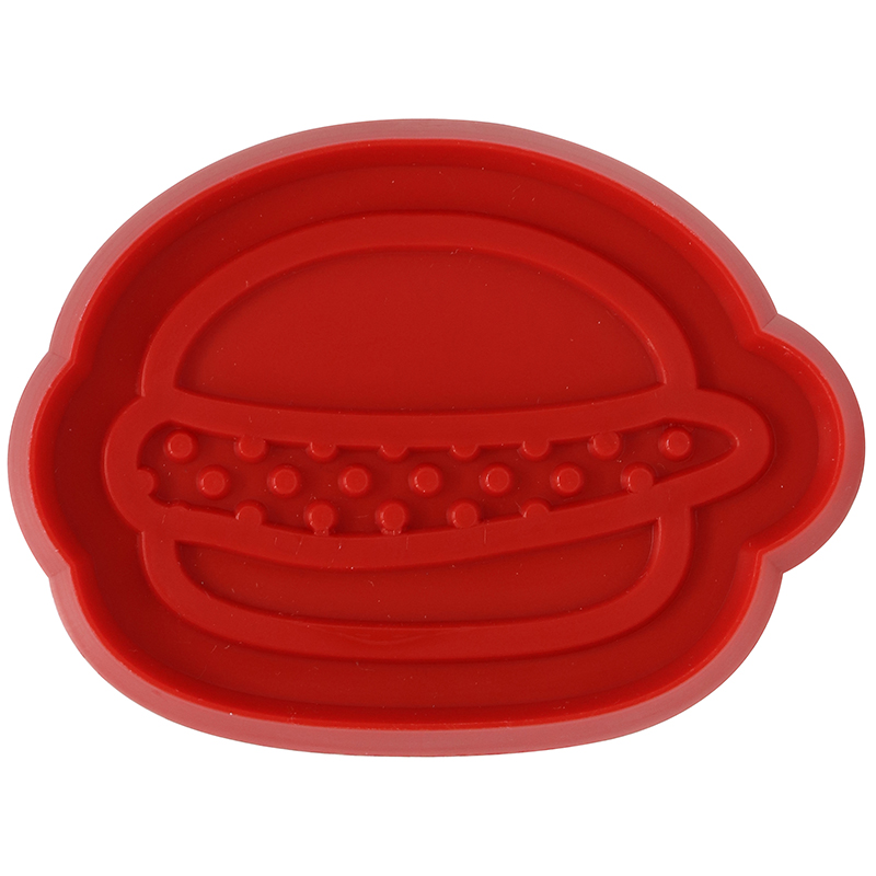 Red burger shaped cookie cutter