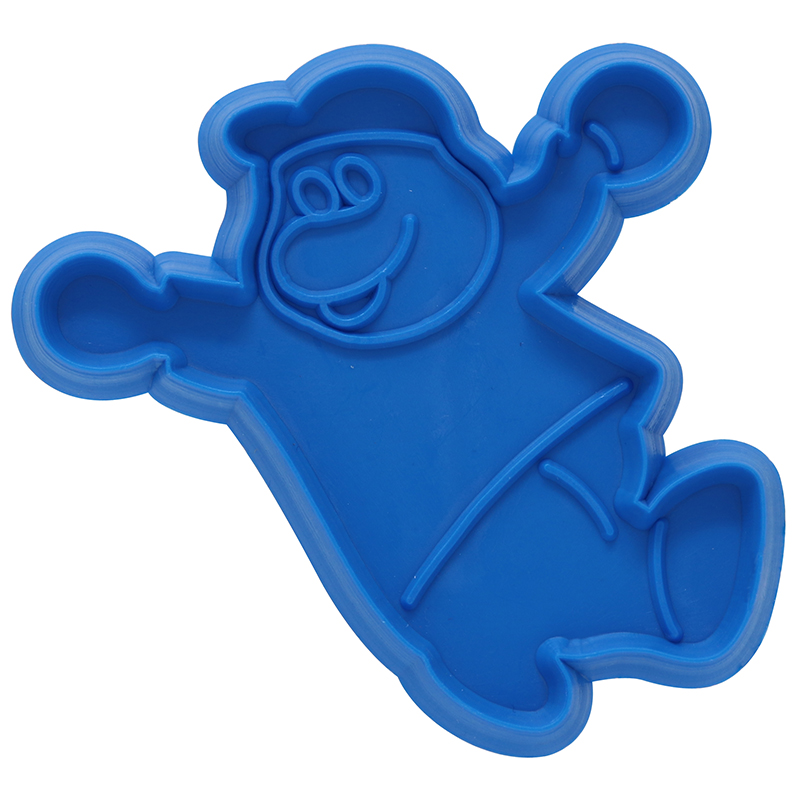 Blue dino shaped cookie cutter
