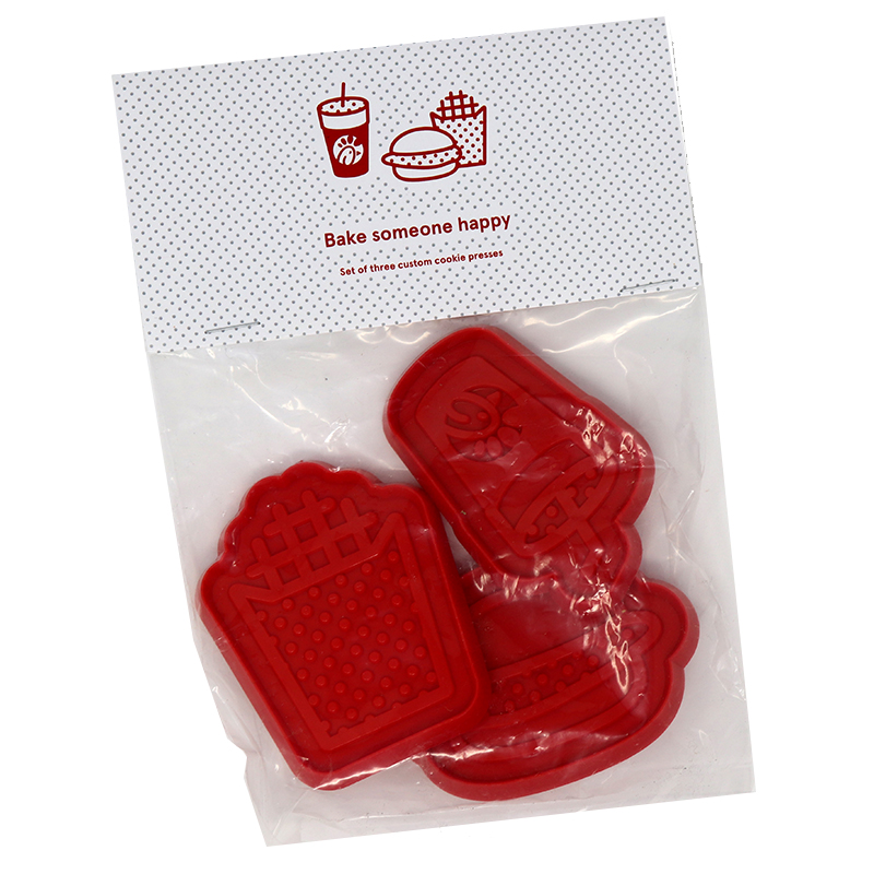 Package of red miscellaneous shaped cookie cutter