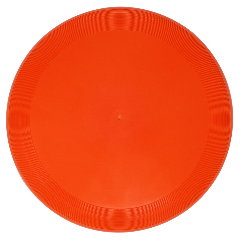 Plastic orange flying disc