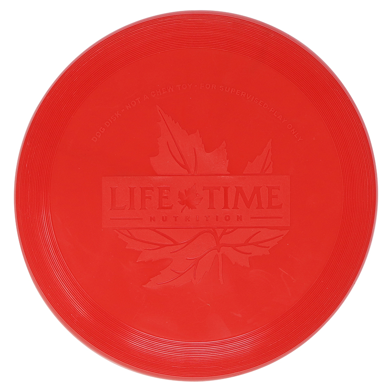 Plastic red flying disc