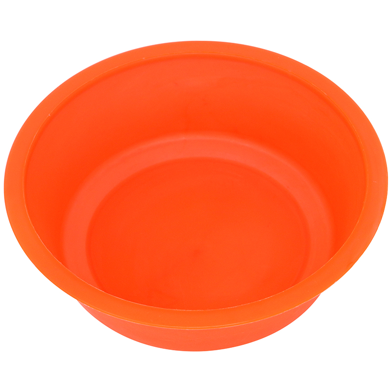 Orange plastic bowl