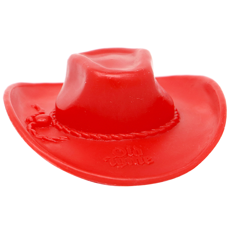 Red plastic cowboy hat