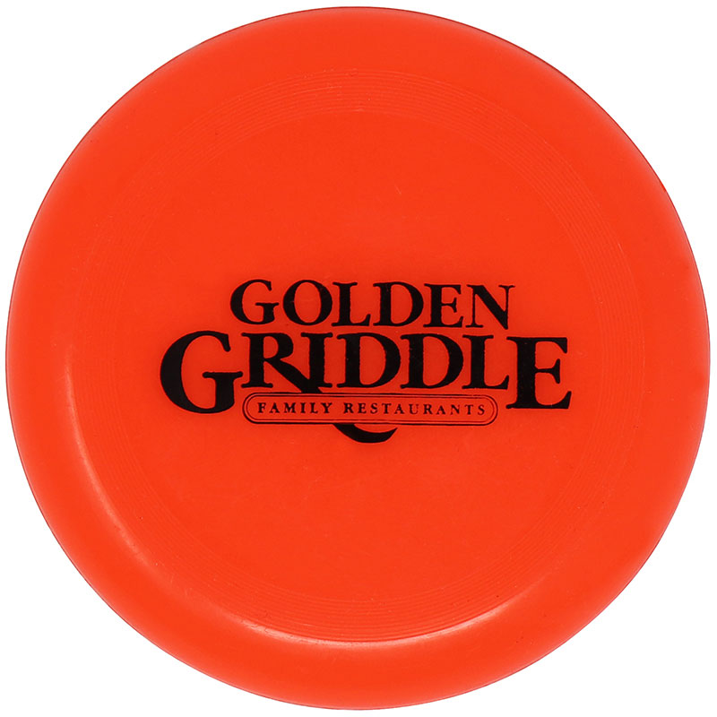 Impritable Plastic Flying Disc - Golden Griddle