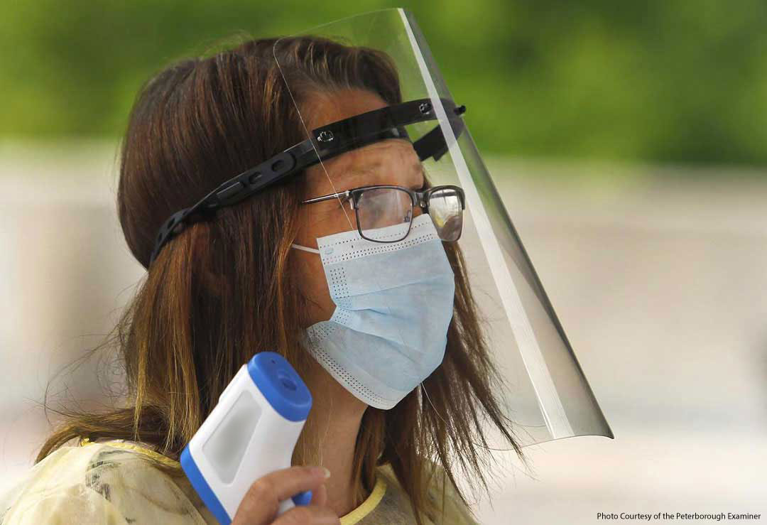 PPE Face Shield In Use