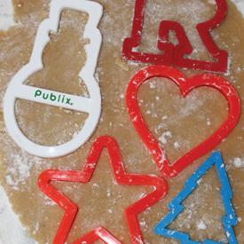 Cookie Cutters cutting dough
